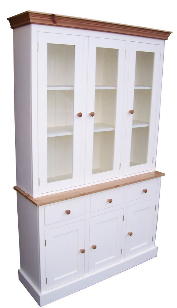 3 Door Glazed Bookcase Display Cabinet