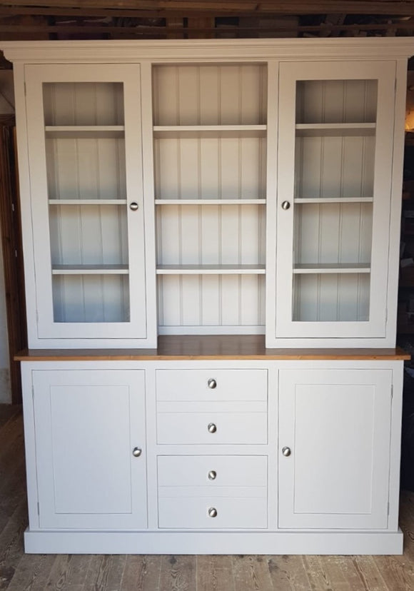 2  Door Glazed Door 5' wide Dresser with Hutch