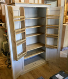 150 cm Medium Height Storage Cupboard for Hallway/Kitchen - Optional Spice Rack for Larder, Utility Room (40 cm deep)