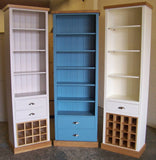 Tall Display with Wine Rack & Drawer - Painted with Farrow & Ball®