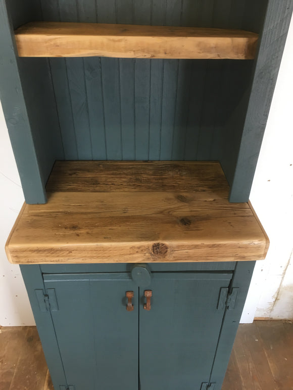 BESPOKE Rustic Reclaimed Timber Painted Kitchen Dresser, Utility Cupboard