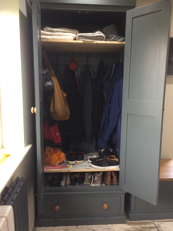 Hallway, Utility, Cloak Room Storage Cupboard for Coats and Shoes with Drawer - 40 cm deep ALL SIZE VARIATIONS