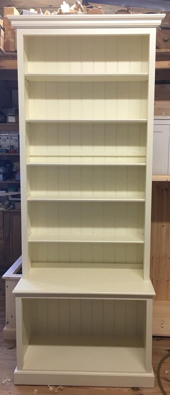 Bespoke Bookcase with Deep open base