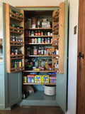 DIY Finishing - RAW WOOD Kitchen Larder Pantry Cupboard (40 cm and 50 cm deep) Fully Shelved with Spice Racks