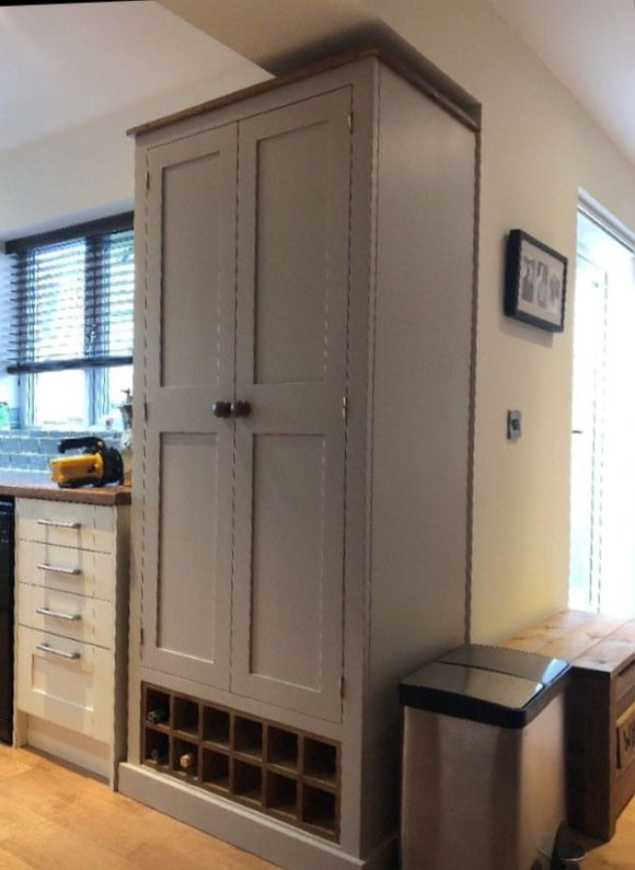 Larder Pantry Housekeepers Cupboard with Wine Rack