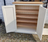 Low Larder Pantry Storage Cupboard No Spice Rack for Kitchen or Utility Room - 122 cm high