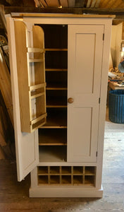 Lower Kitchen Larder Pantry with 10 Bottle Wine Rack and Spice Racks (40 cm or 50 cm deep)
