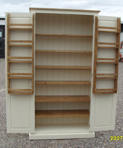 Kitchen Larder Pantry Cupboard - 40 cm Deep - Fully Shelved with Spice Racks - ALL SIZE VARIATIONS