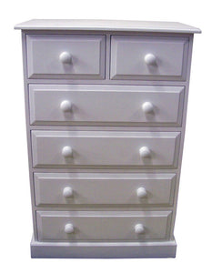 "Solid Pine 2 over 4 Chest of Drawers - Narrow 30"" wide"