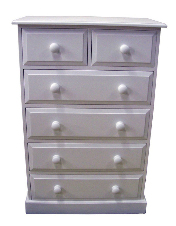 Solid Pine 2 over 4 Chest of Drawers - Narrow 30
