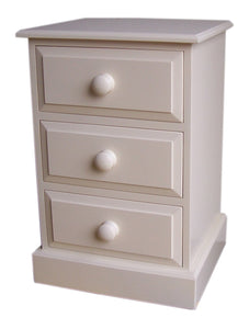 Solid Pine 3 Drawer Bedside Cabinet (Small)