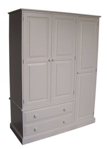 3 Door Triple Combination Wardrobe with Drawers