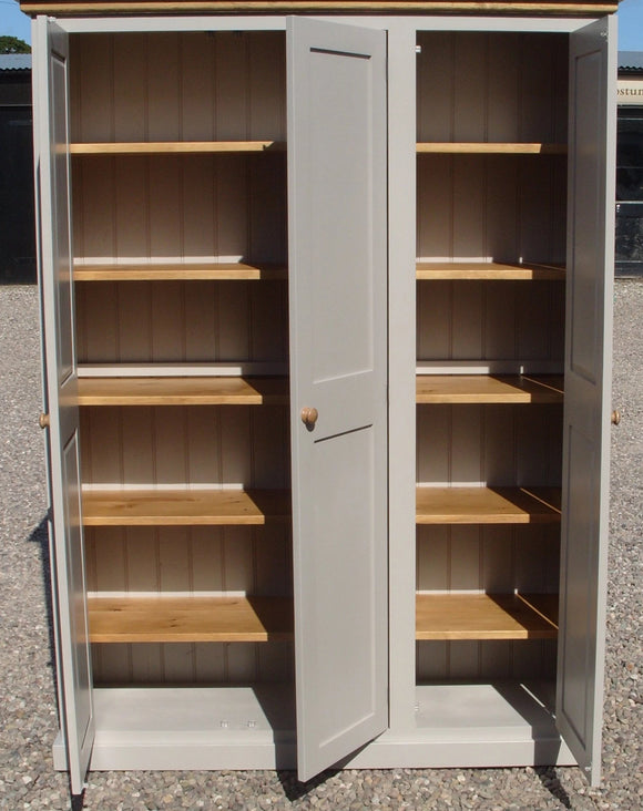 3 Door Larder/Hall for Kitchen items, Craft, Toys, Utility Room, Office Storage Cupboard (40 cm or 45 cm deep) OPTION 3