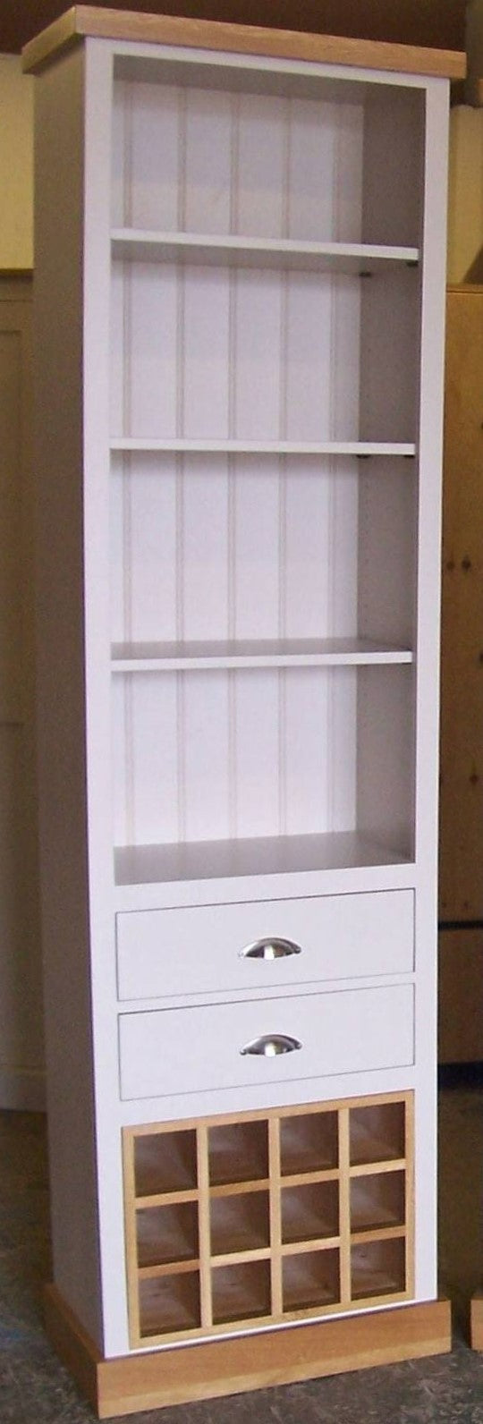 Tall Display with Wine Rack & 2 Drawers - Painted with Farrow & Ball®