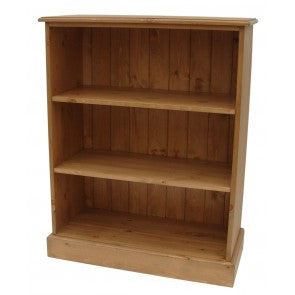 Solid Pine Low Bookcase 36 High With Adjustable Shelves