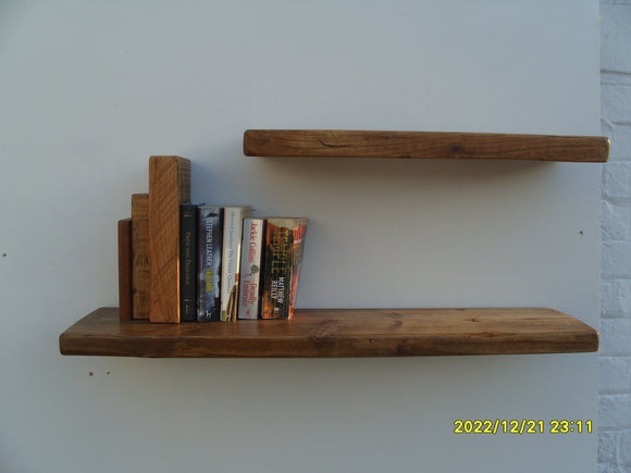 Reclaimed Timber Floating Shelves