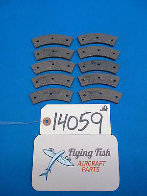 Airborne Aircraft Brake Linings Lot of 10 Pads P/N: 312 [Cleveland 66-4] (14059)