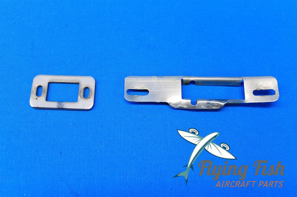 1975 Piper Cherokee PA-28-140 Upper and Lower Door Latch Striker Plates (18586)