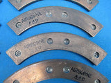 Airborne Aircraft Brake Linings Lot of 10 Pads P/N 448 [66-15 066-01500] (14060)