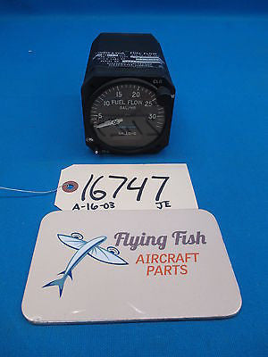Aerosonic Dual Fuel Flow Indicator P/N: 65840-0107 GUARANTEED with 8130 (16747)