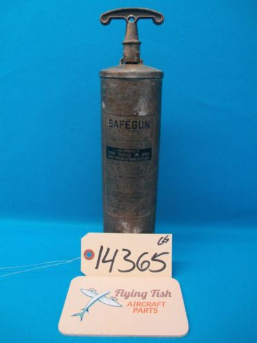 Vintage WW2 Stearman Safegun VL Type 2 Fire Extinguisher (14365)