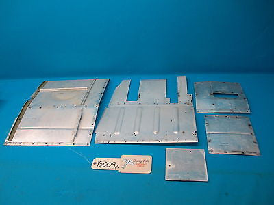 1974 Cessna 310Q Assortment of Interior Floor Metal Panel Assemblies (15009)