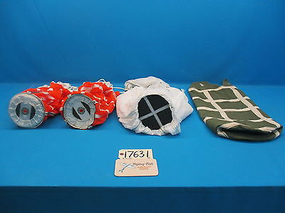 3 Aircraft Pilot Chutes Parachute Spring Loaded & Bag P/N 7041-0100-00 (17641)