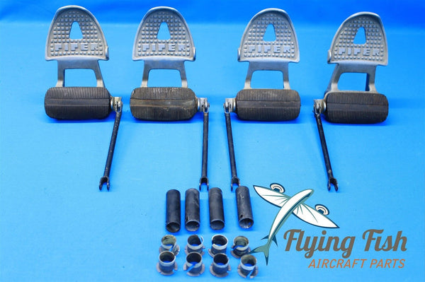 1975 Piper Cherokee PA-28-140 Two Rudder Pedal Sets P/N 63418-0 63418-1 (18565)