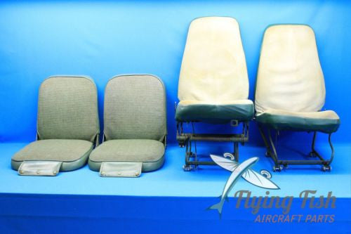 1975 Piper Cherokee PA-28-140 Set of 4 Front and Rear Seats (18291)