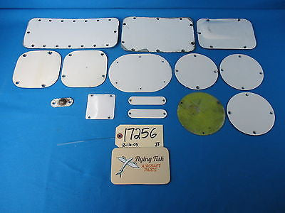Cessna 310 D Aircraft Fuselage Inspection Panel Cover Plates Set Of 14 (17256)