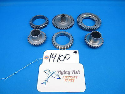 Aircraft Engine Gears Lycoming Continental Cessna Piper Beechcraft Lot (14100)