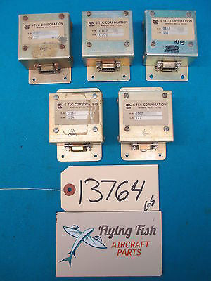 Lot of 5 S-Tec AutoPilot Electronic Components PN: 0167 (13764)