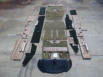 Beechcraft 1964 Baron 95-B55 Interior Panels Carpet Dash Trim Floor Walls(15149)