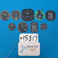 Lot of Fuel Indicator Faces Dials Fuel Flow Quantity Beechcraft Pioneer (15817)