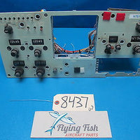 Beechcraft 1966 Queen Air 65 Instrument Control Panel with Controls (8437)