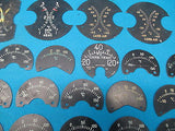 Aircraft Indicator Faces Cylinder Temperature Carb General Electric Lot (15823)