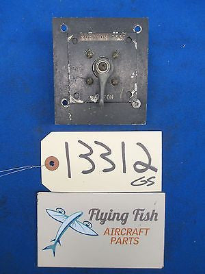 Cessna 172 SkyHawk Suction Test Directional Horizon Gyro Switch Valve (13312)