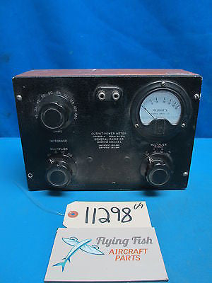 Vintage General Radio Type 583-A Output Power Meter Wood Housing Ohms mW (11298)