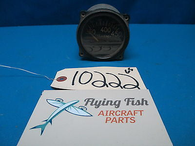 Aircraft 350 to 450 Hz Electrical Frequency Indicator Gauge (10222)