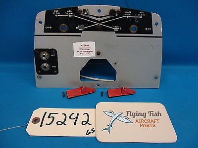 Beechcraft 64 Baron 95-B55 Fuel Cross Feed Selector Control Panel w Knobs (15242