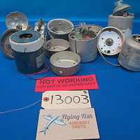 Lot of Various Grimes and Other Rotating Light Beacon and Parts (13003)
