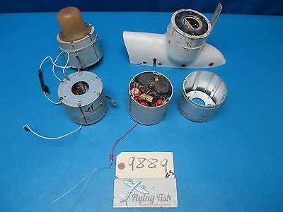 Lot of Various Strobe Light Flash Tube Beacon and Power Supply (9889)
