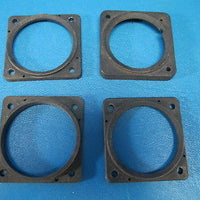 Lot of Four Various Indicator Face Plate Mounts (7877)