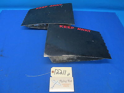 Cessna 337 D 1969 Left LH & Right RH Cowl Flap Doors (12211)