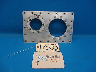 Cessna 310 D Tip Tank Booster Pump & Fuel Sender Mount Backing Plate Assy(17553)