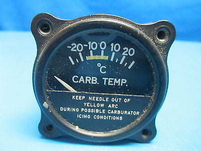 Cessna Aircraft Carburetor Temperature Indicator P/N: S-1311N1 Karnish (8545)