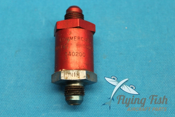 Commercial Aircraft Products Fuel Check Valve P/N 340200 (20605)