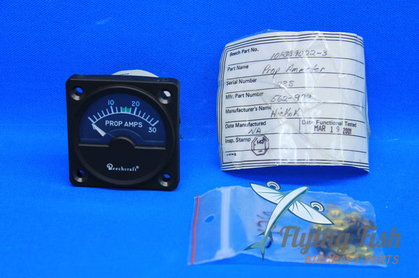 Beechcraft King Air Propeller Ammeter P/N: 562-979 (20641)