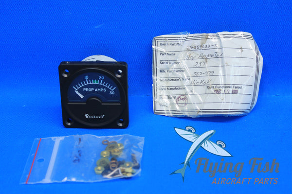 Beechcraft King Air Propeller Ammeter P/N: 562-979 (20642)