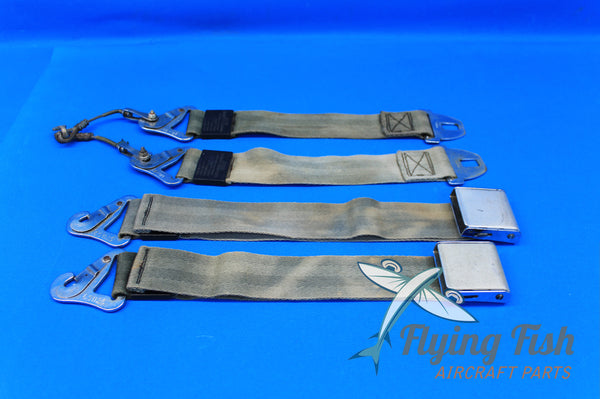 Set of Piper Rear Seat Safety Belt Assembly P/N: 551-374 (20674)